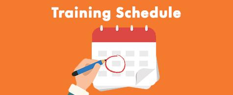 Training Schedule Header